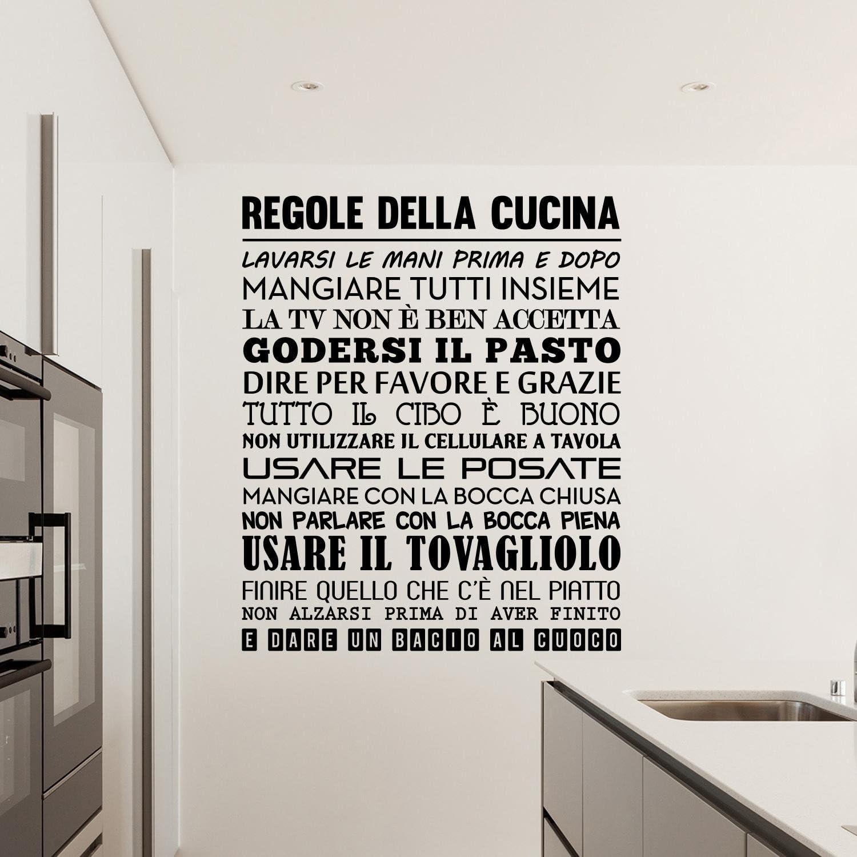 Adesiviamo 1576-L Si Cucina Sempre Pensando a Qualcuno Wall Sticker Adesivo da Muro