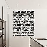 Adesiviamo 1480-M Regole della Cucina Wall Sticker Adesivo da Muro