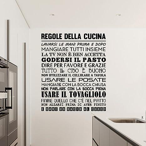 Adesiviamo 1480-M Regole della Cucina Wall Sticker Adesivo da Muro ...