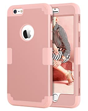 9378793d45b BENTOBEN Funda iPhone 6 Plus, Funda iPhone 6s Plus Original, 3 en 1 Dura PC  Híbrido ...