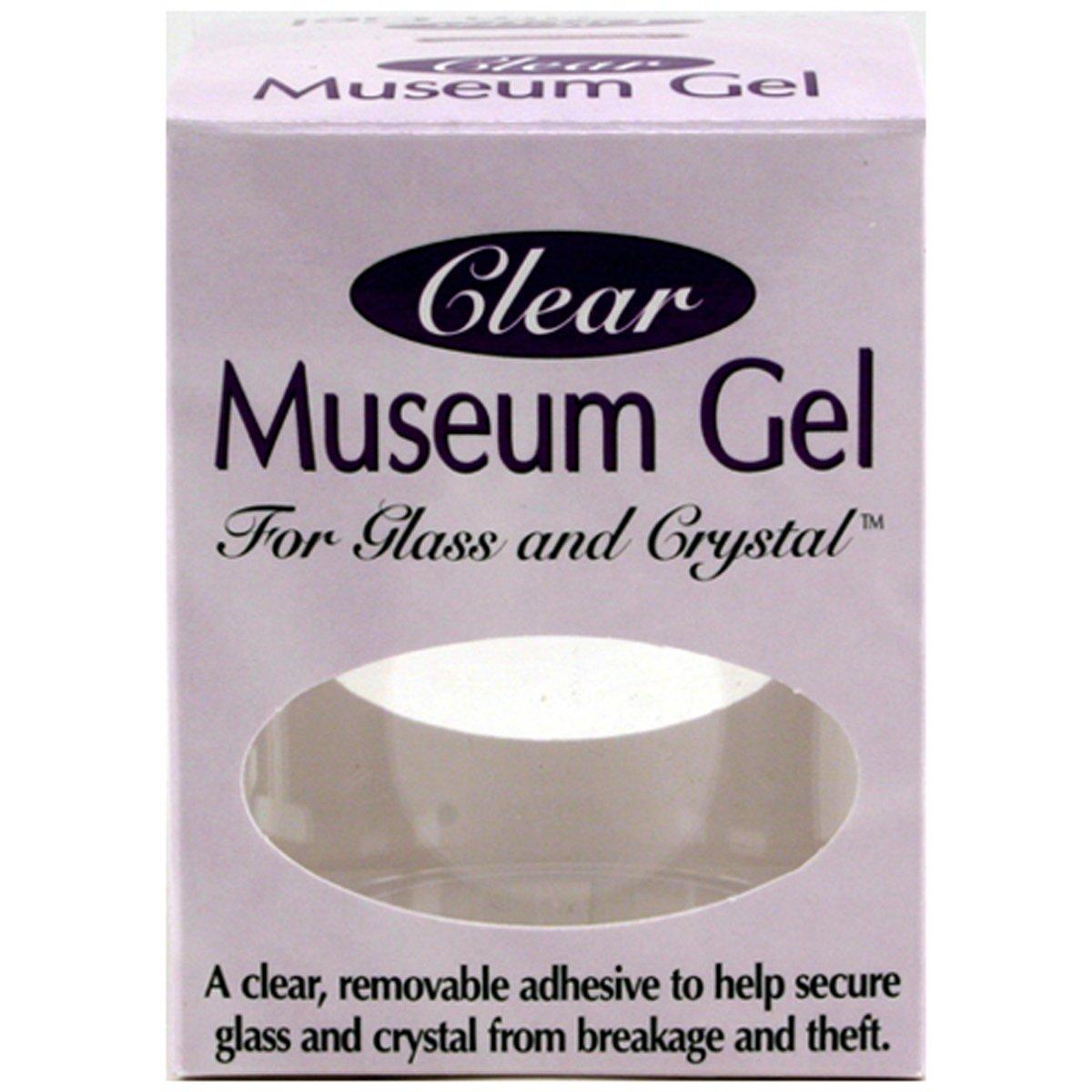 Ready America - Colla adesiva 'Gel Clear Museum', removibile, per fissare bicchieri, cristalleria e altri oggetti delicati su una superficie, ideale per oggetti da esposizione, 110 ml ElectricalCentre 33111