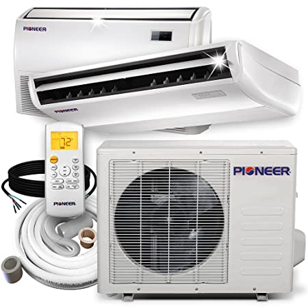 PIONEER Air Conditioner Inverter Split Heat Pump, 18,000 BTU, 208-230 V