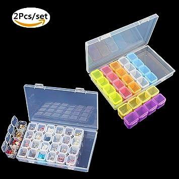 28-Slots Verstellbare Aufbewahrungsbox-Kunststoff Fall Organizer Schmuck Boxen 1