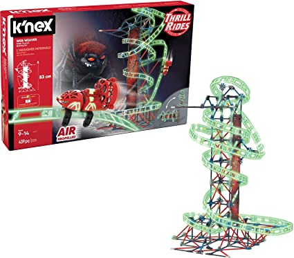 K Nex Thrill Rides Web Weaver Roller Coaster Building Set 439 Pieces Ages 9 And Up Construction Educational Toy Multicolor Toys Games