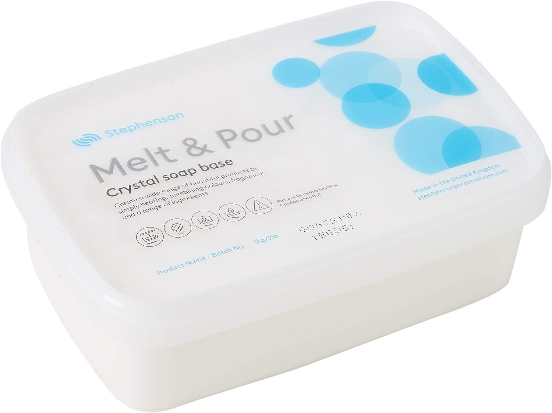 Jabón base de leche de cabra para derretir y verter, 5 kg: Amazon ...