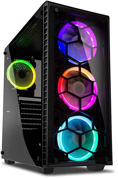 Vibox Apache 9XL Gaming PC Ordenador de sobremesa con 2 Juegos Gratis, Win 10, 22