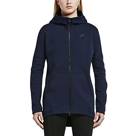 4b4c88ff2ea3 Amazon.com  Nike Women s NSW Tech Fleece Knit Cape Full Zip HOODIE JACKET  (S)  Sports   Outdoors