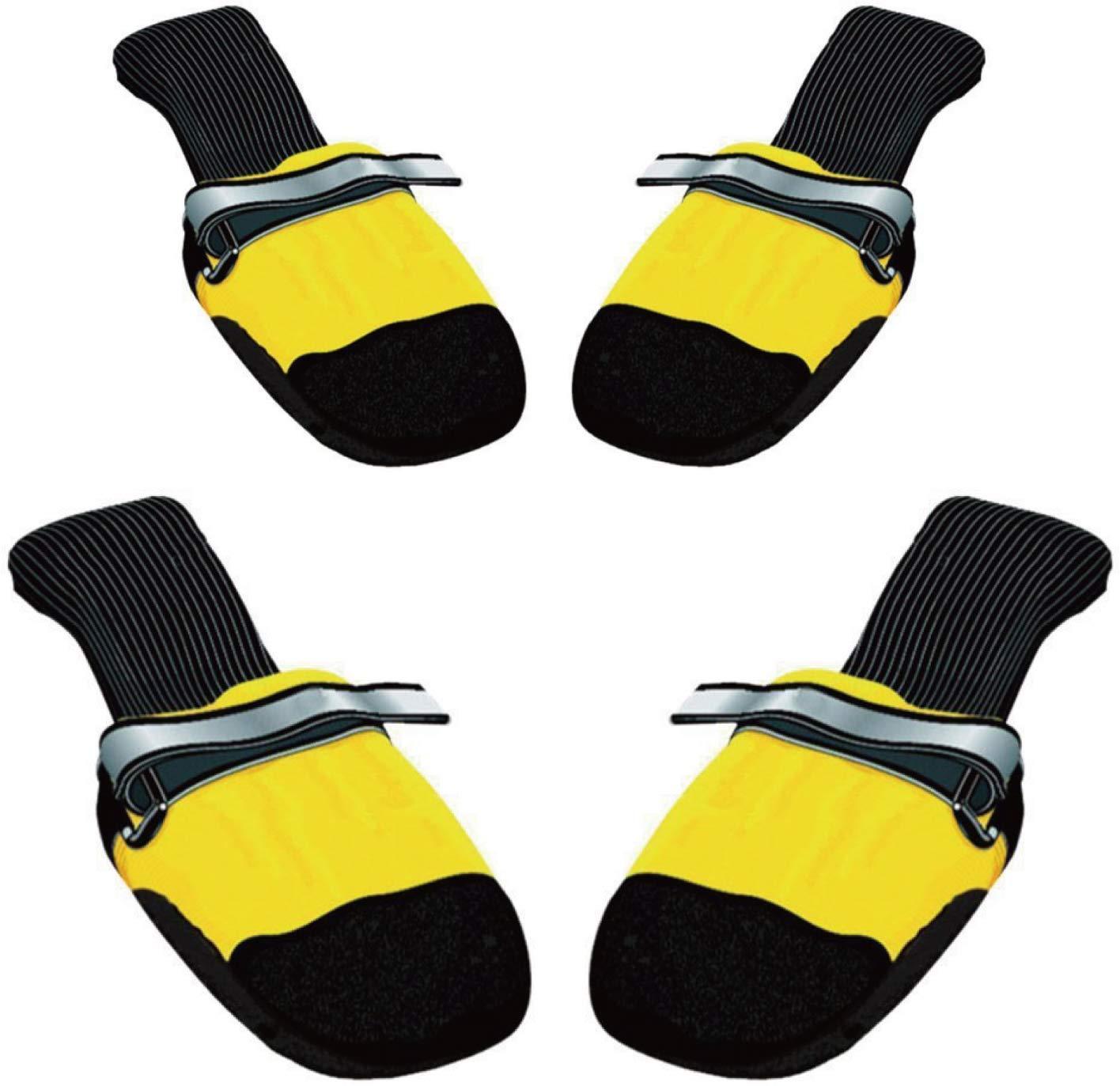 Muttluks Original All-Weather IB to XXL Dog Boots, 4 Pack (Yellow, Medium (3.25-3.75in)) by Muttluks