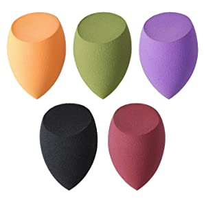 5 Pcs Makeup sponges Set Blender Beauty Cosmetics Tool Flawless Facial Powder Puff Foundation Sponges Professional Make Up Applicator Latex-Free Suit for All Skin Type (001)