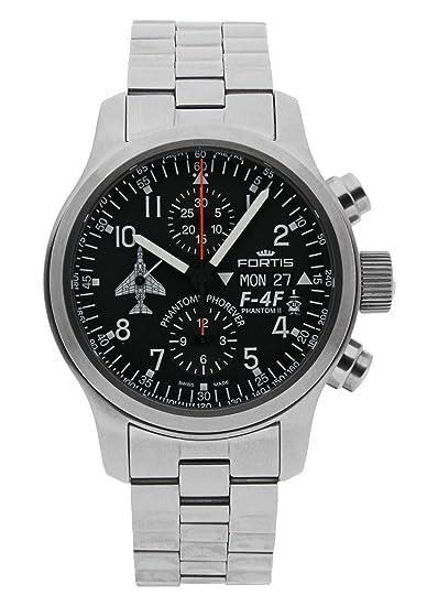 Fortis - Reloj de pulsera Phantom F-4F para hombre, cronógrafo, fecha,