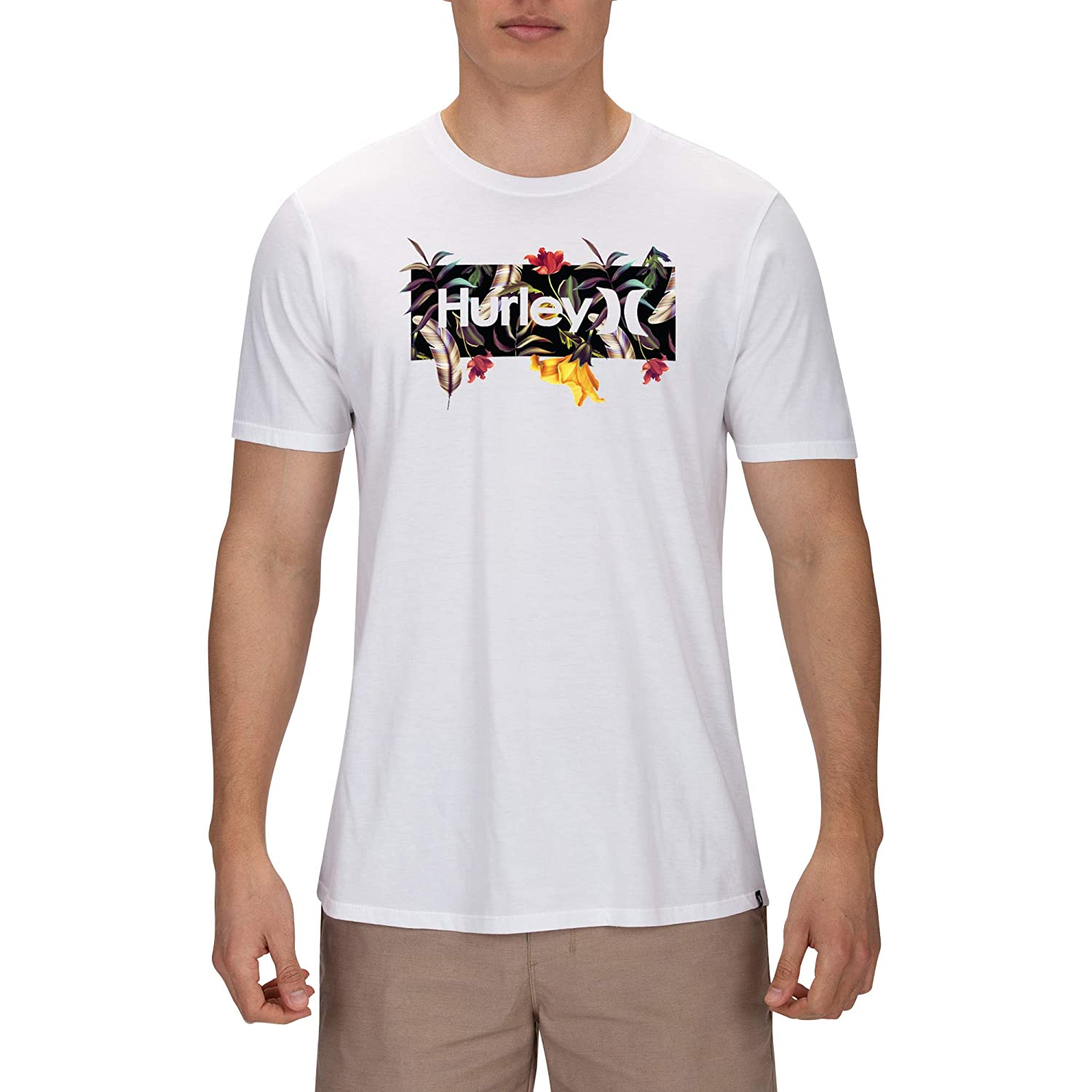 Hurley Mens Premium One and Only Floral Short Sleeve Tee