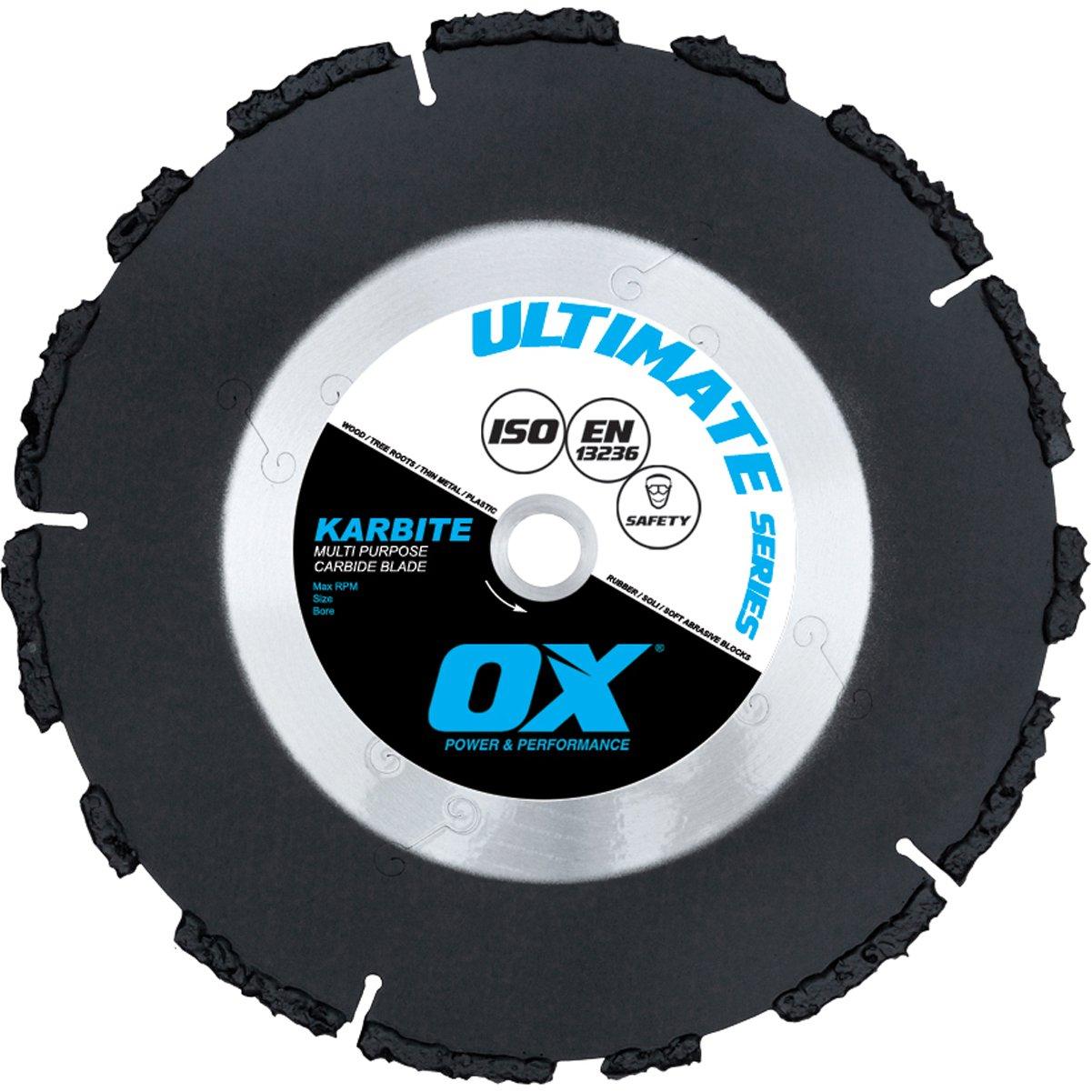 Disco de Diamante OX TOOLS OX-UKB-4.5 Ultimate Multi-Purpose 4.5 pulg. carburo 7/8-pulgada-5/8-pulgada de diámetro inter