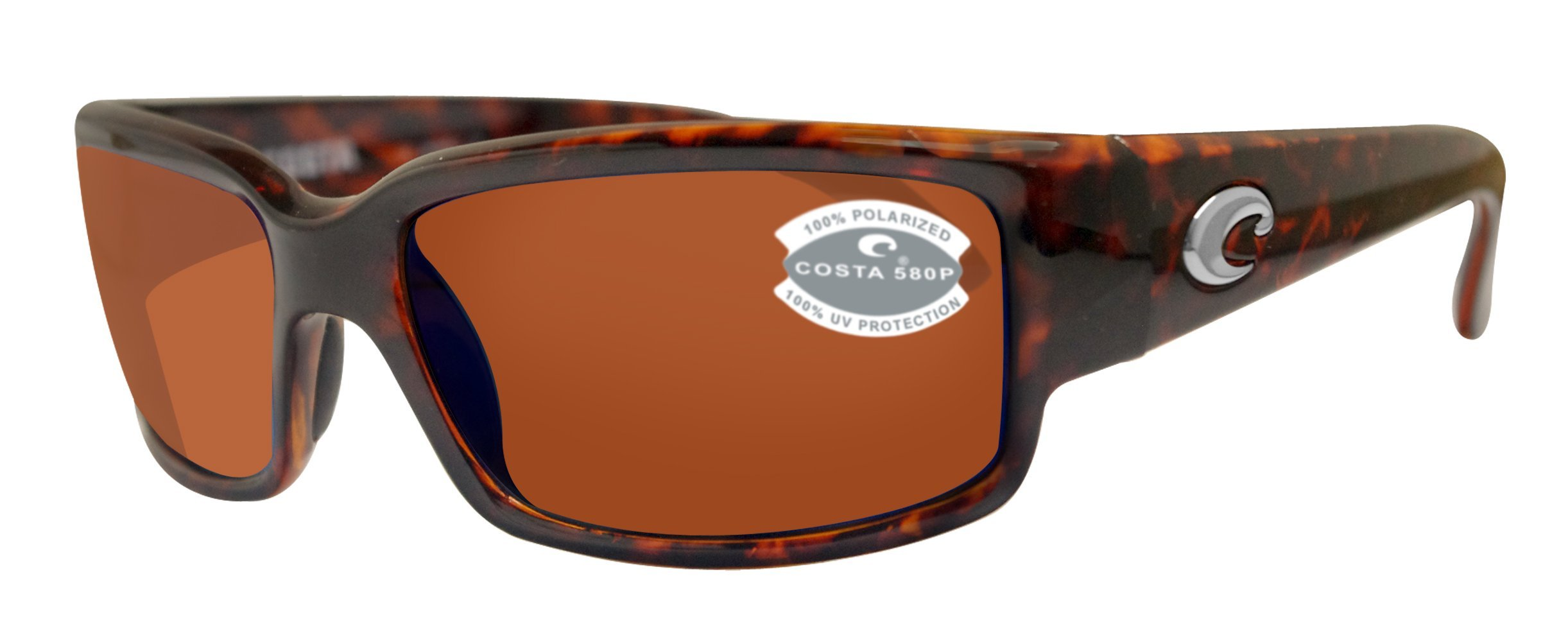 Costa Del Mar Caballito Sunglasses Tortoise / Copper 580Plastic by Costa Del Mar