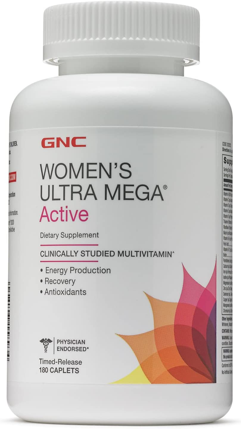 GNC Women s Ultra Mega Active 180 Caplets – New Formula