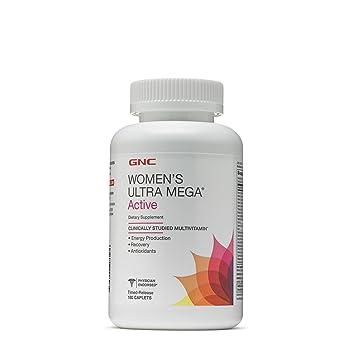 a9fcb6d9027a Amazon.com  GNC Women s Ultra Mega Active 180 Caplets - New Formula ...