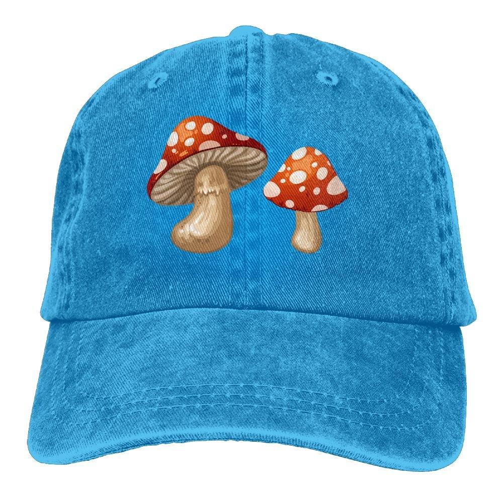 Denim Baseball Cap Mushrooms Clip Art Love Summer Hat Adjustable Cotton Sport Caps
