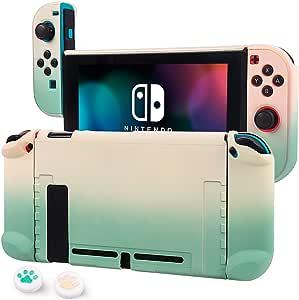 CHIN FAI Estuche acoplable para Nintendo Switch Estuche Protector rígido de Agarre para Consola Nintendo Switch y Controladores Joy-con con 2 Barras de Control: Amazon.es: Electrónica