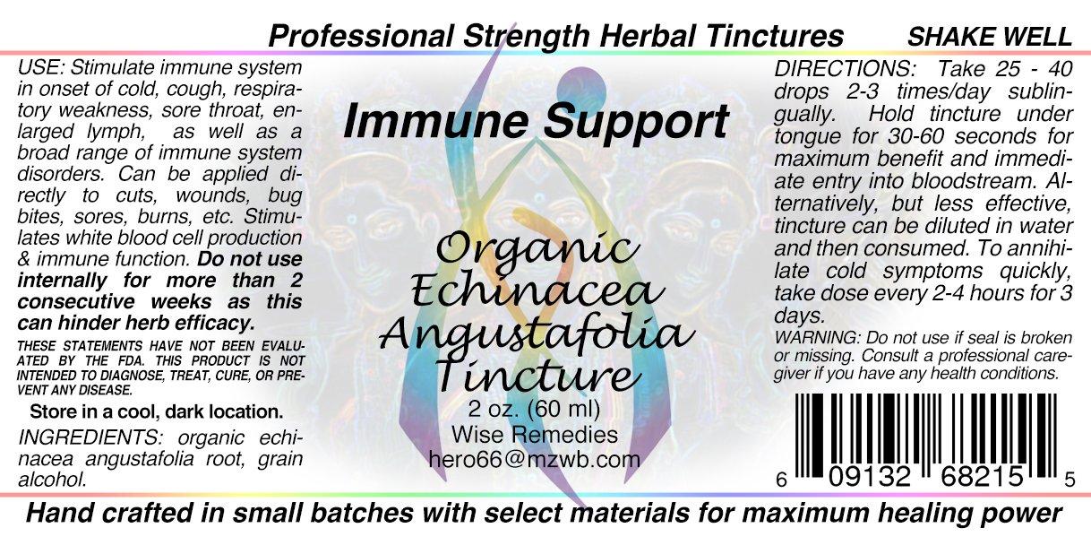 Organic Echinacea Angustifolia Tincture 2 Oz.