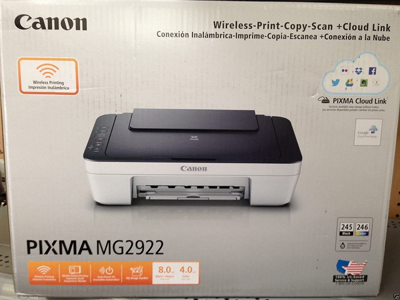 Canon PIXMA MG2922 Wireless All-in-One Inkjet Printer, 4800 x 600 dpi - Blue Finish