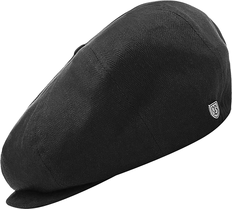 BRIXTON Cap BROOD, black herringbone twill M 1239_41290