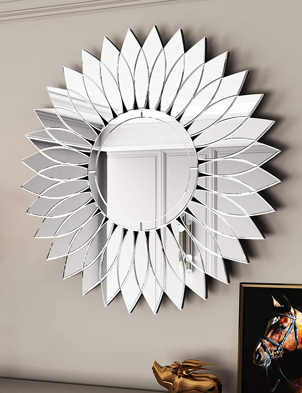 "Sunglasses Sunflower Wall Mirror -Sunflower Decorative Wall Mirror 31.5"" X 31.5"" for Decor Wall Mirror: Furniture & Decor"