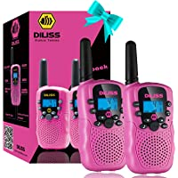 Kids Talks Toys for 3-15 Year Old Boys Girls Birthday Gift, 3 Miles Long Range for Outdoor Camping Game - Pink