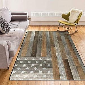 Super Soft Modern American Flag Area Rugs Living Room Carpet Bedroom Rug for Children Play Solid Home Decorator Floor Rug and Carpets 210 x 150 cm