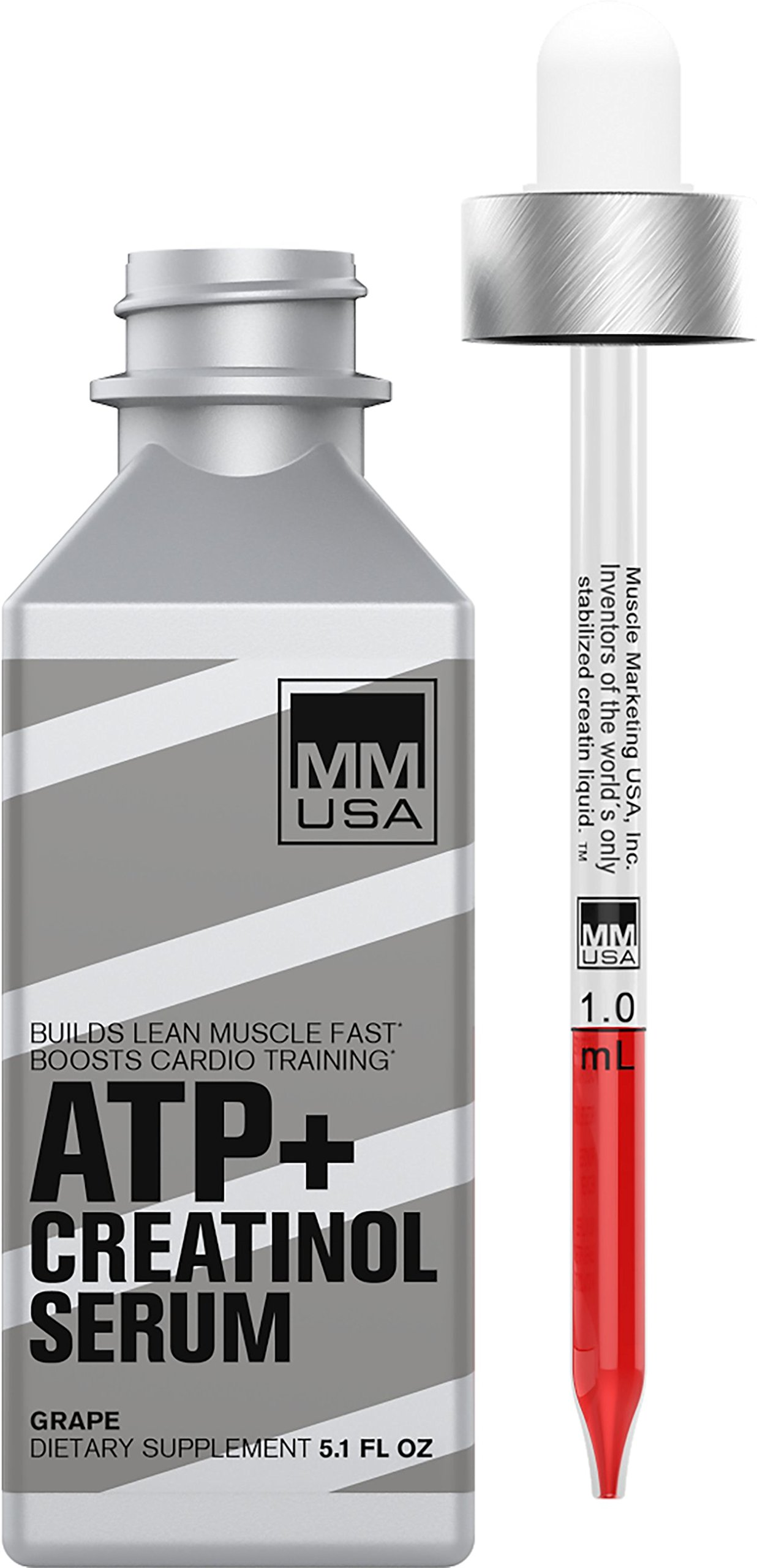 ATP (Adenosine Triphosphate) Creatinol Serum by MMUSA, Pre Workout for Energy + Strength, Joint Protection, Stamina and Builds Lean Muscle Mass. Glucosamine Sulfate. Anti inflammatory. Strawberry