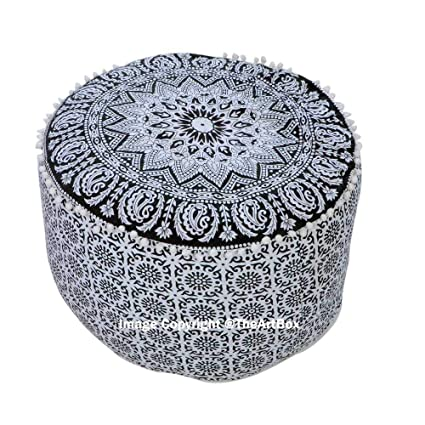Super Amazon Com Navratan Handicraft 14X24 Huge Pouf Cover Customarchery Wood Chair Design Ideas Customarcherynet