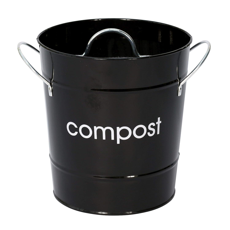 Premier Housewares 0510016 Compostiera in Acciaio Zincato, Viola
