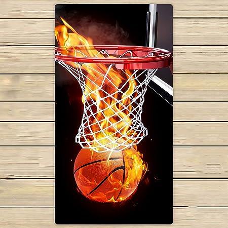 Personalizado baloncesto en llamas toalla de mano, toalla de Spa ...