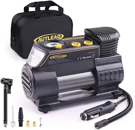 AUTLEAD C2 Compresor Aire Coche, 12V Auto Inflactor Ruedas Coche ...