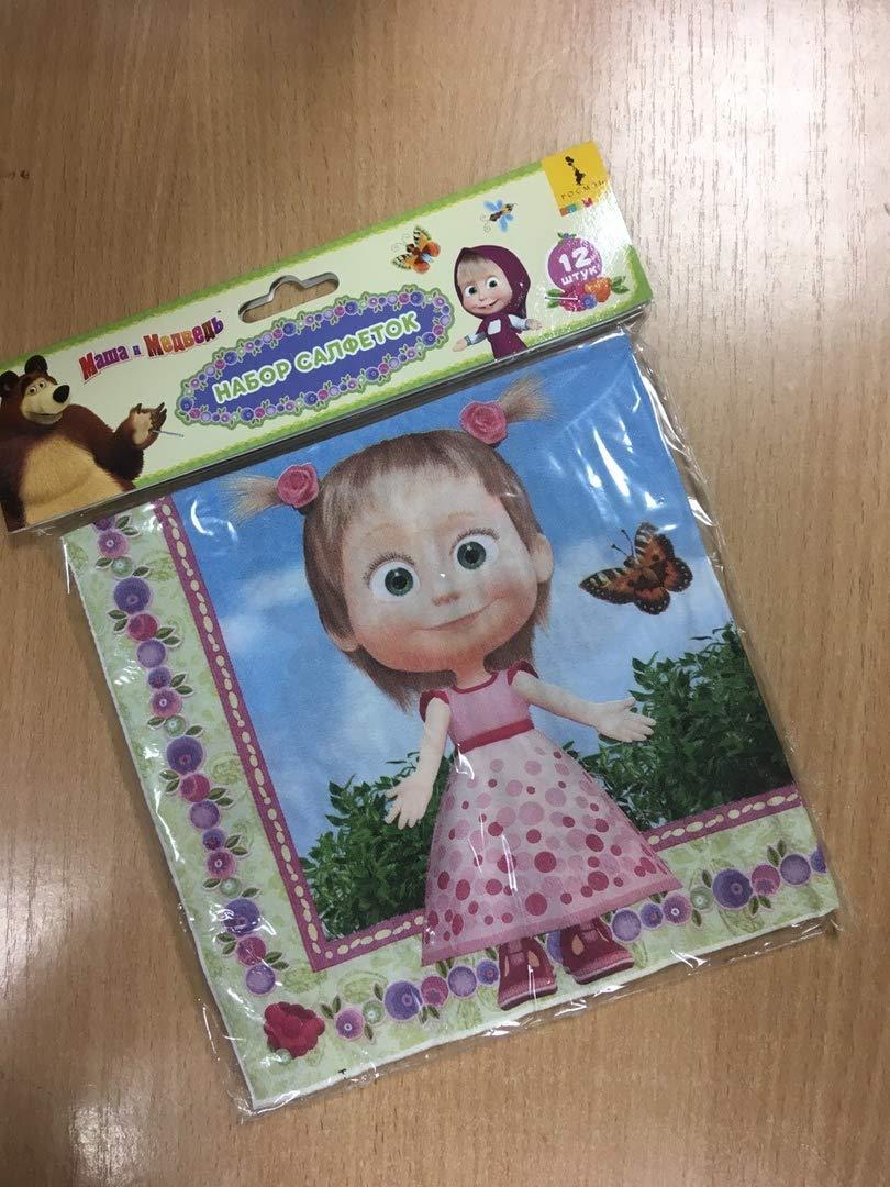 Amazon.com: 12 piezas servilletas Masha y el oso niños S ...