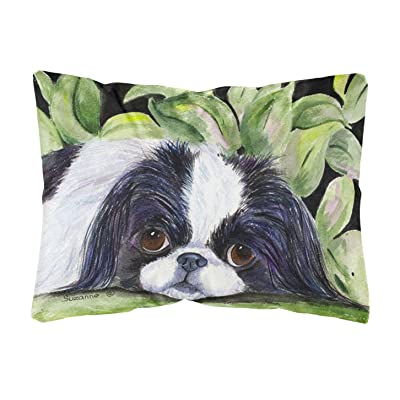 Caroline's Treasures SS8322PW1216 Japanese Chin Decorative Canvas Fabric Pillow, 12H x16W, Multicolor : Garden & Outdoor