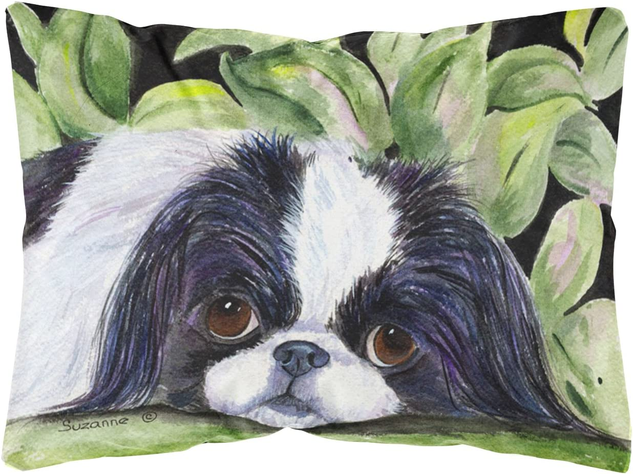 Caroline's Treasures SS8322PW1216 Japanese Chin Decorative Canvas Fabric Pillow
