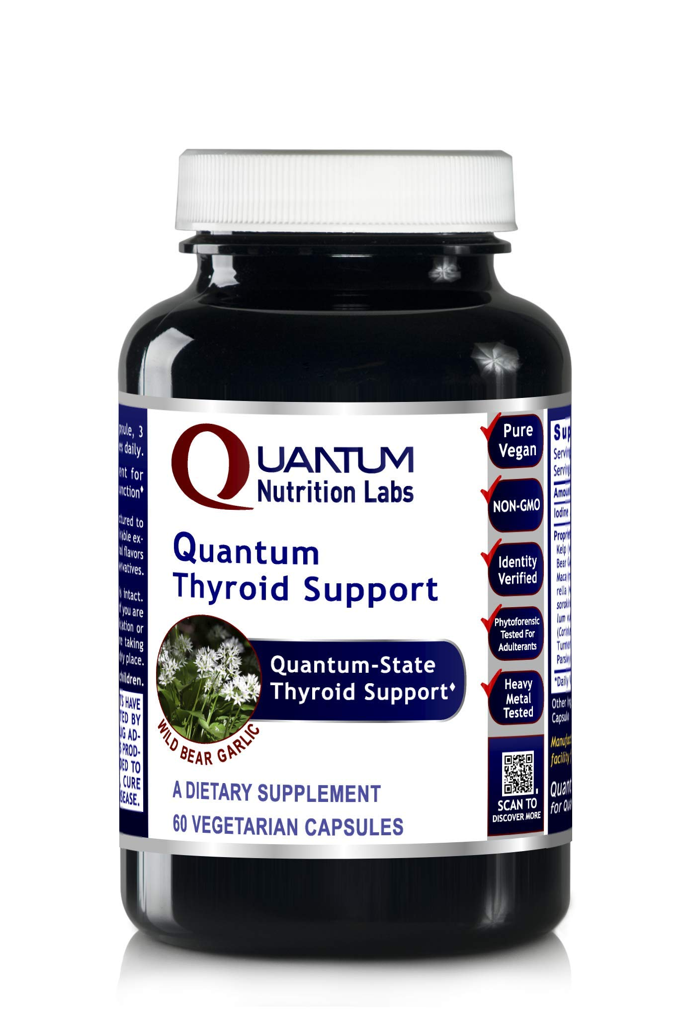 Quantum Thyroid Support, 60 Vegetarian Capsules - Quantum-State Detoxification and Thyroid Support by Quantum Nutrition Labs