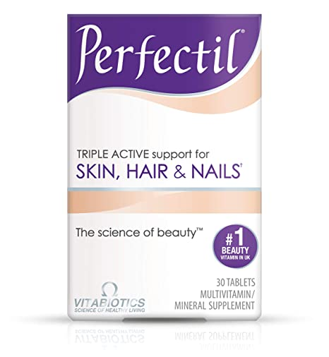 Vitabiotics Perfectil Triple-Active Beauty Multivitamin | All-in-One Skin,  Hair & Nail Supplement with Vitamin
