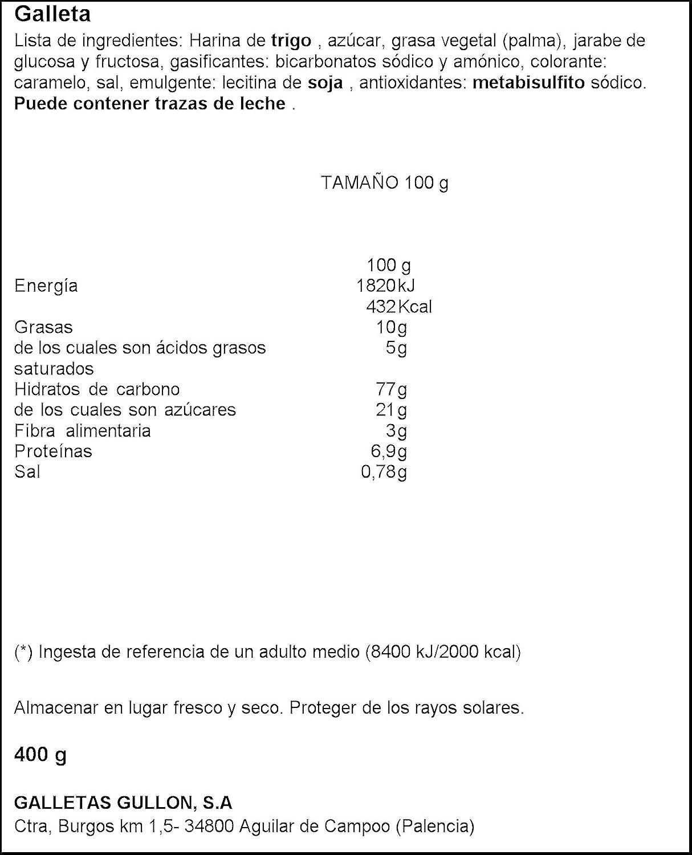 Tostada Gullón - Galleta Paquete - 400 g - , Pack de 6: Amazon.es: Alimentación y bebidas