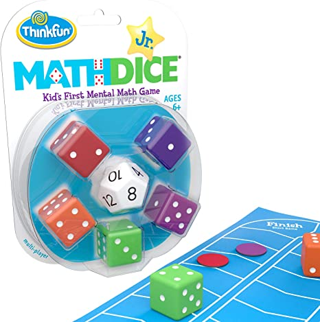 New In Package! Math Dice Jr ThinkFun-Mental Math Game For Children Ages 6+
