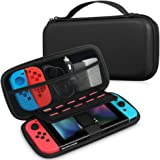 Nuovo Nintendo Switch Custodia in pelle PU - Fintie Portatile Custodie protettiva da Viaggio in EVA Carrying Storage Bag Case Cover con Cerniera per Nintendo Interruttore JoyCon & Altri Piccoli Accessori 2017, Nero