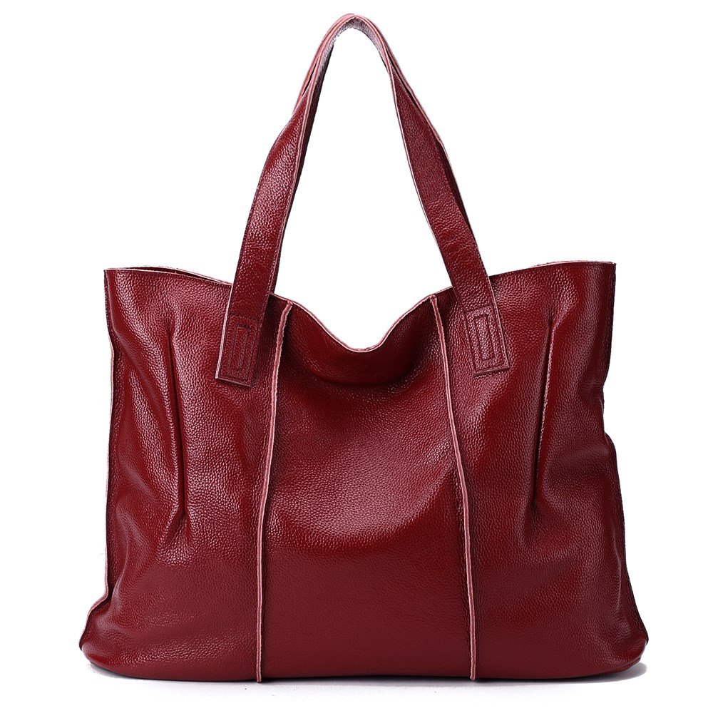 malluo Women Handbags Hobo Shoulder Bags Tote Leather Handbags Fashion Large Capacity Bags (Red wine)