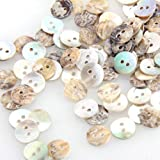 FACILLA® 100 Mother of Pearl MOP Round Shell Sewing Buttons 8mm HOT