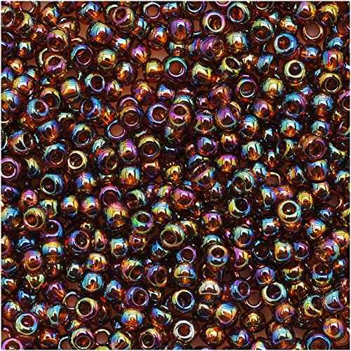 Toho Round Seed Beads 11/0 #177 'Transparent Rainbow Smoky Topaz' 8 Gram - Seed Colored Beads