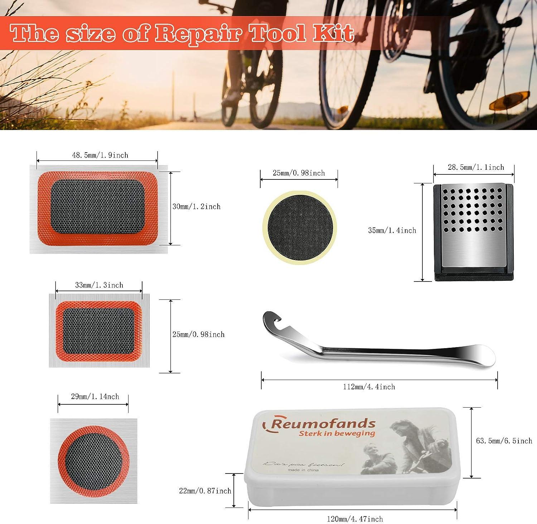 Kit Pinchazos Bici Palanca de Neum/áticos de Bicicleta y Parche de Reparaci/ón de Punci/ón de Bicicleta Autoadhesivo astarye Kit de Herramientas para Bicicleta
