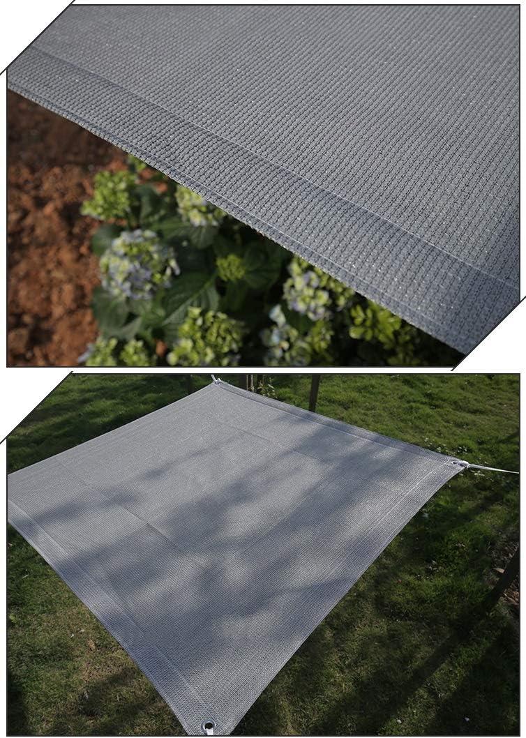 Malla Sombra Lona de Malla Perforada for cochera//Techo//Edificio Pa/ño de Sombra 90/% Bloqueador Solar Malla de Sombra Gris con Cuerda de 5 m Size : 1m x 1m