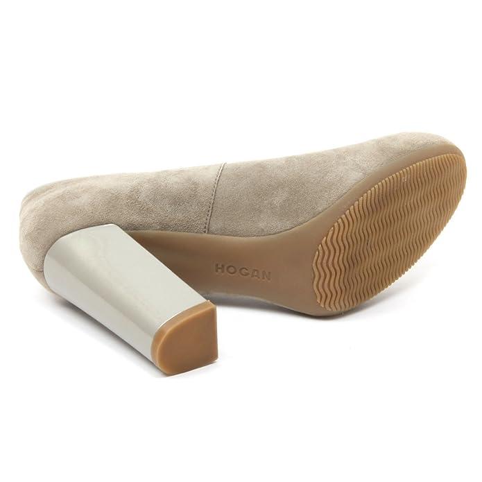 B4150 decollete donna HOGAN H189 scarpe verde oliva tacco pelle shoe woman   Amazon.it  Scarpe e borse 72b1d6a9c23