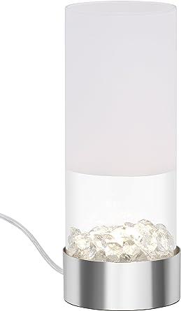 Wei/ß-Chrom HxD Briloner Leuchten 400 Lumen inkl 352x131mm Tischlampe Sterneneffekt Schnurschalter LED Tischleuchte 3.000 Kelvin 5 Watt
