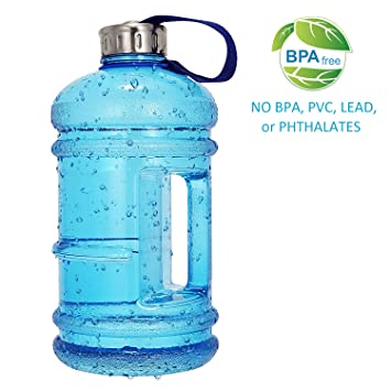 Wesoke 2.2L / 75OZ Botella de Agua Grande, PETG Plástico Deportivo Lanzador Gran Capacidad