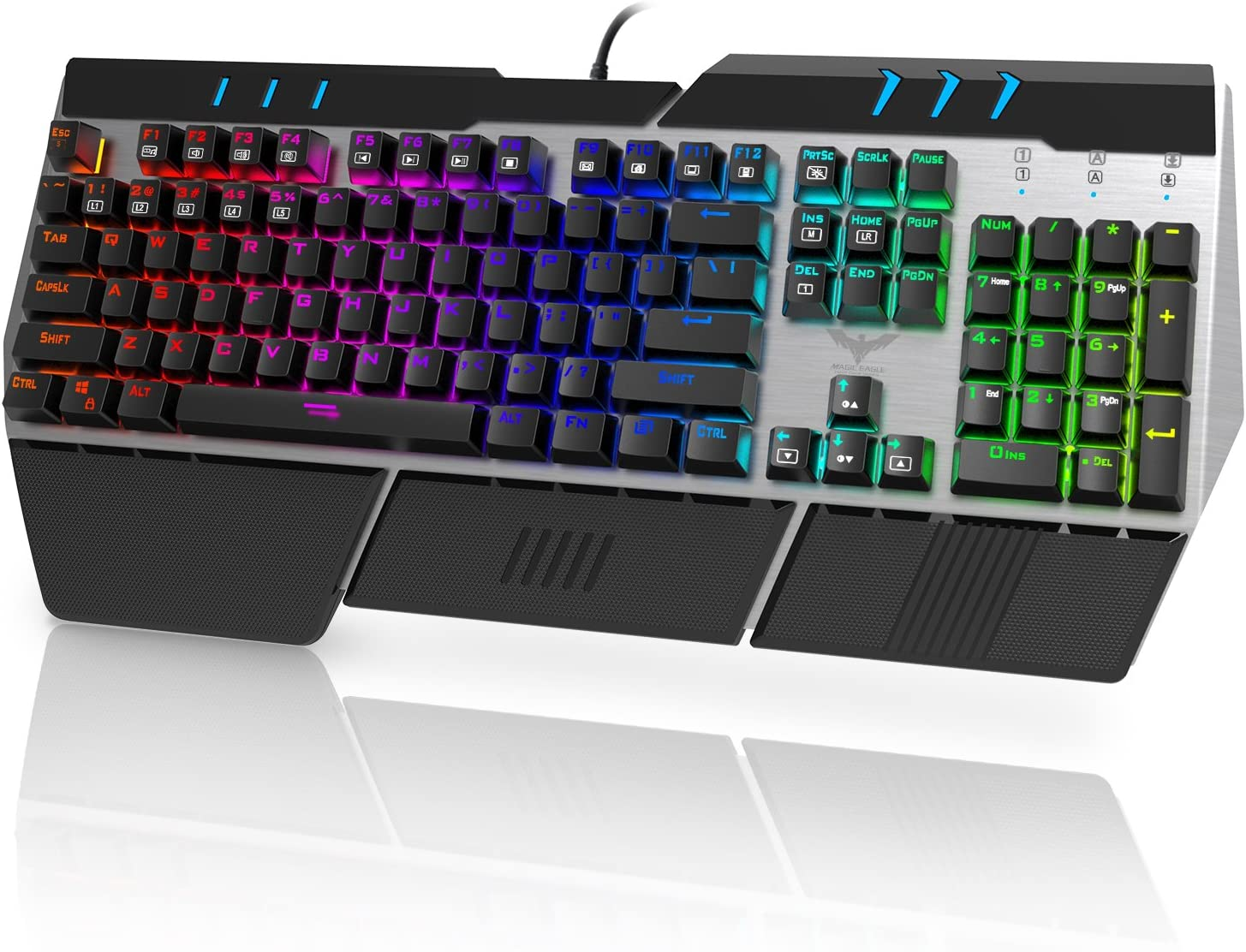 HAVIT RGB Backlit Wired Membrane Gaming Keyboard, Mechanical-Similar Typing/Gaming Experience (Black)