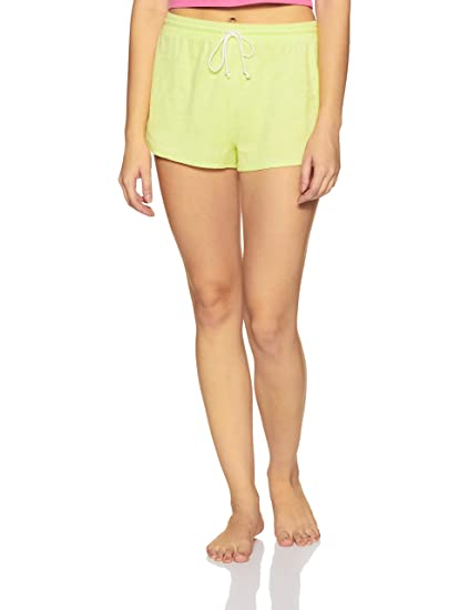 8bb04a3b Forever 21 Women's French Terry Dolphin Shorts 321775, S, NEON ...